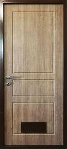 Входная дверь с вентрешеткой, в котельную для дома или коттеджа
