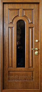 Металлическая дверь с терморазрывом со стеклом и ковкой