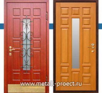 Дверь МДФ со стеклом с ковкой