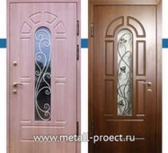 Входная дверь МДФ с ковкой