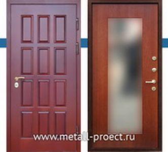 Входная дверь с зеркалом изнутри