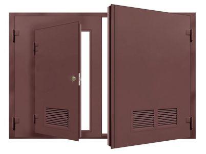 Гаражные ворота с вентиляционной решеткой