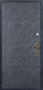 Входная дверь с окрасом простой краской и винилискожей