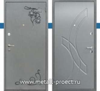 Металлическая дверь с ковкой