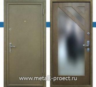 Взломостойкая дверь с зеркалом