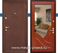 Входная дверь с зеркалом внутри